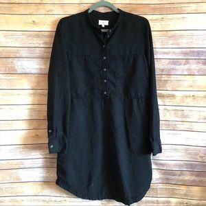 Lou & Grey | Shirt Dress | Black | Size Medium